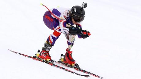 Heather Mills skiing