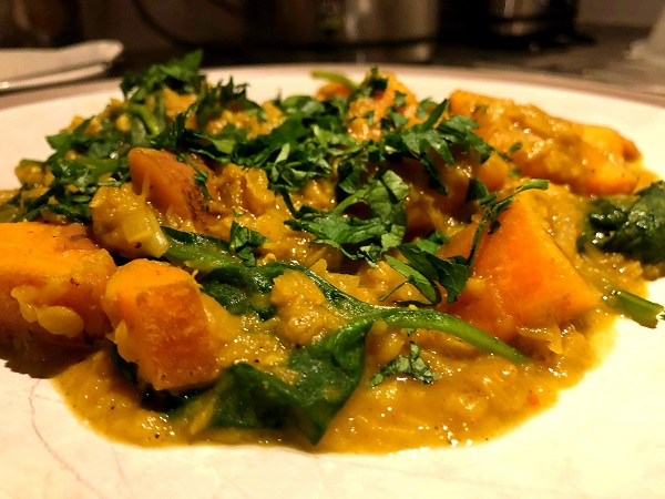 Warming Sweet Potato And Lentil Dhal