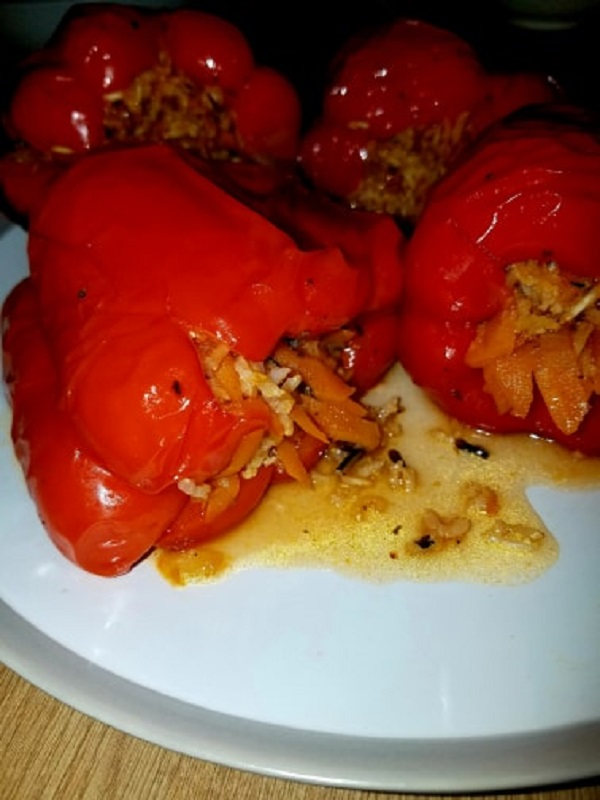 Rice Stuffed Baked Peppers