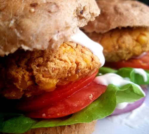 Easy Vegan GF Chickpea Burgers
