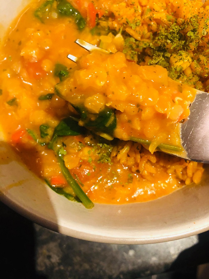 Easy Healthy Red Lentil And Spinach Curry