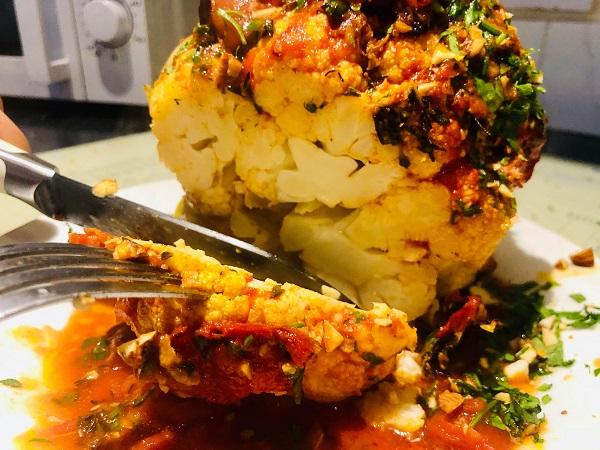 Roasted Cauliflower Centrepiece