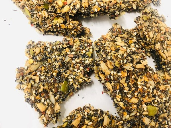 Super Healthy 5-Seed Crackers
