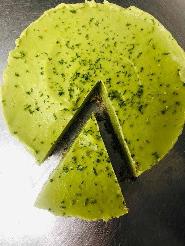 Healthy Raw Vegan Lime Cheesecake