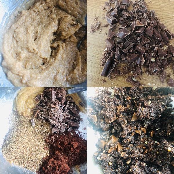 Healthy Double Chocolate Fudgy Vegan Cookies