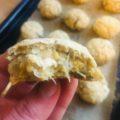 Crispy Aubergine & Chickpea Nuggets With Harissa Dip
