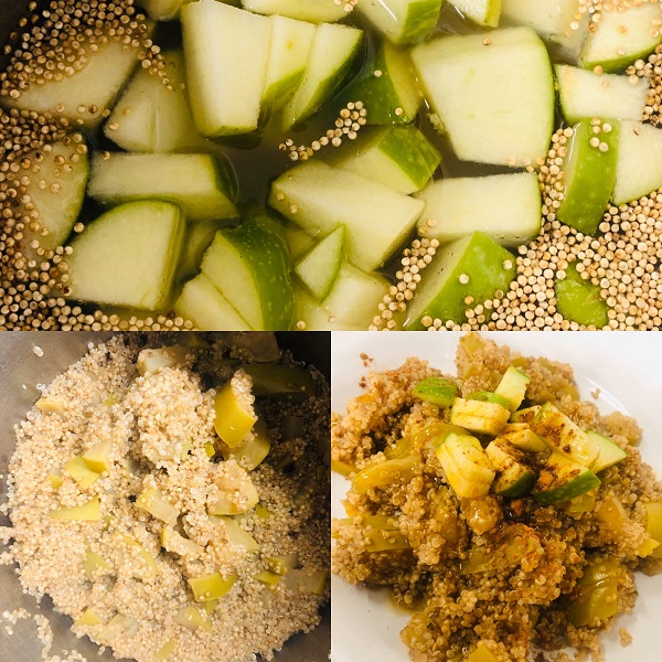 Easy Healthy Cinnamon Apple Breakfast Quinoa