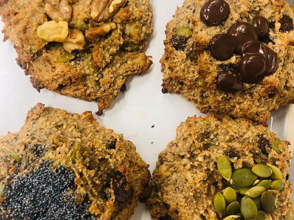 Healthy Almond & Seed Chocolate Breakfast Cookies