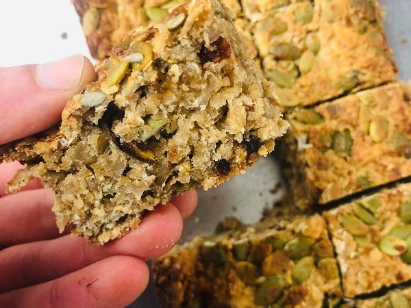 Healthy Filling Vegan Soft Breakfast Bars