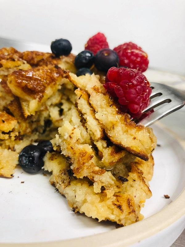 Easy Healthier Fluffy Vegan Pancakes