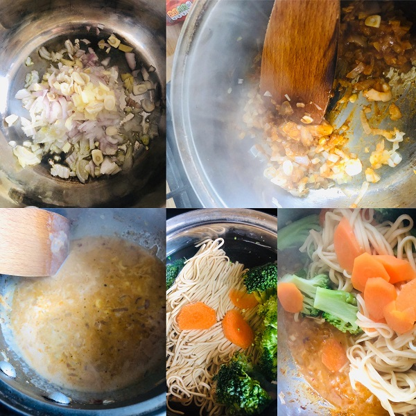 Easy Healthy Vegan Red Thai Noodle Curry
