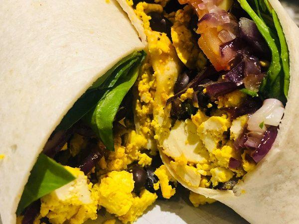 Easy Healthy High Protein Vegan Breakfast Wrap