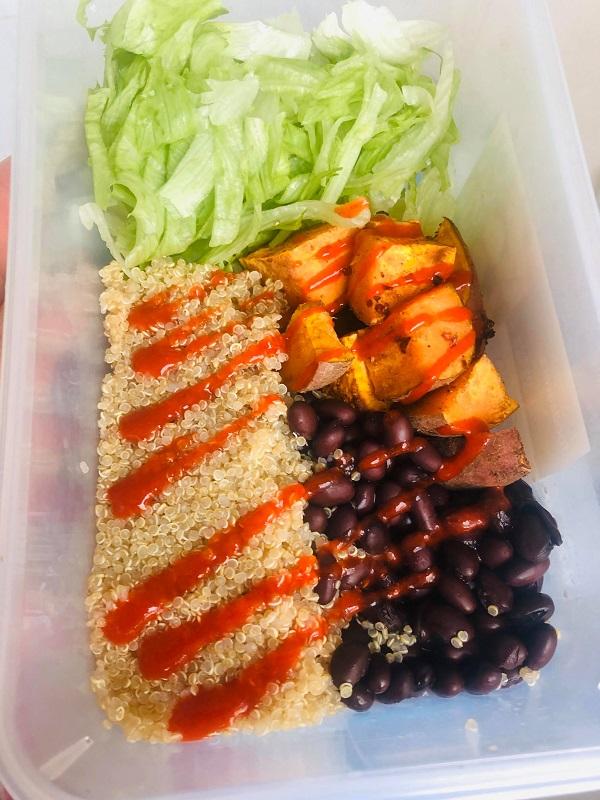 Easy Healthy Quinoa Black Bean & Sweet Potato Salad