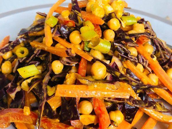 Easy Crunchy Thai Vegan Peanut Salad