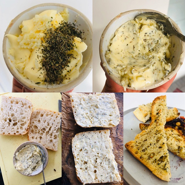 Super Easy Vegan Herb Garlic Bread