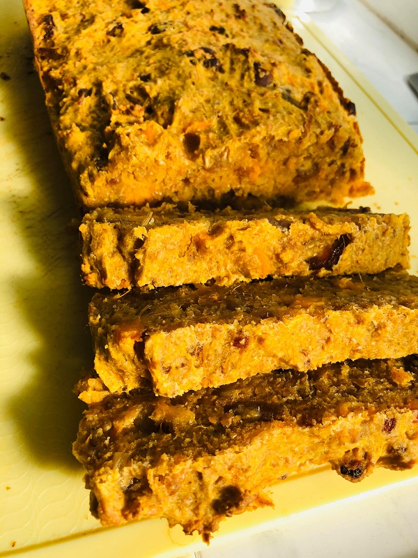 Easy Healthy Vegan Sweet Potato Bread