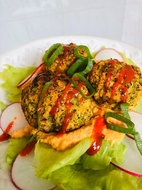 Easy Healthy Vegan Bean & Broccoli 'Meatballs'