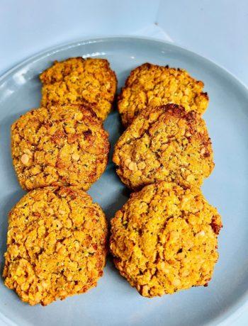 Oil-Free Healthy Vegan Baked Lentil Nuggets