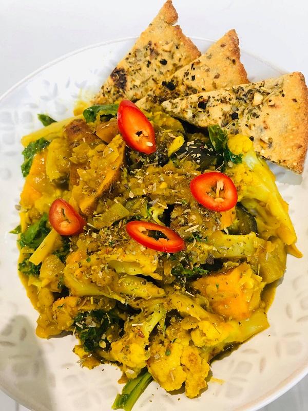 Quick Healthy Vegan Green Lentil Curry