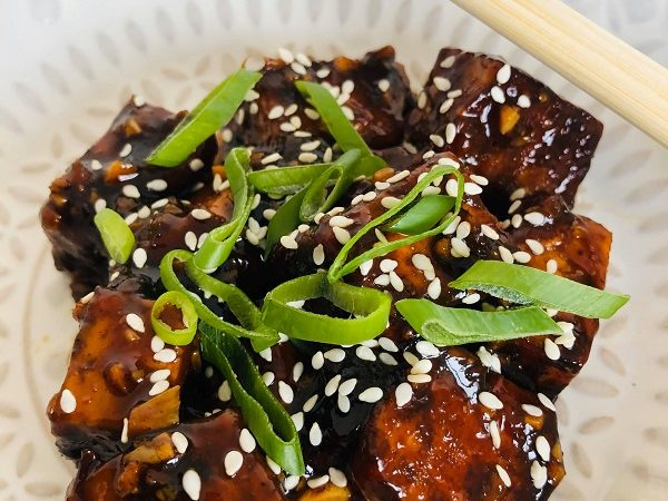 Sweet Sticky Black Tofu