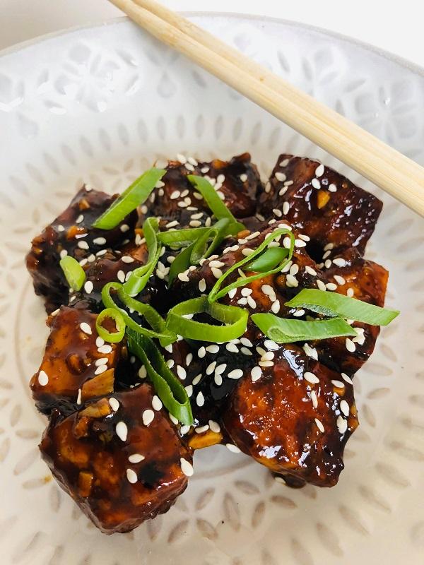 Sweet Sticky Black Tofu