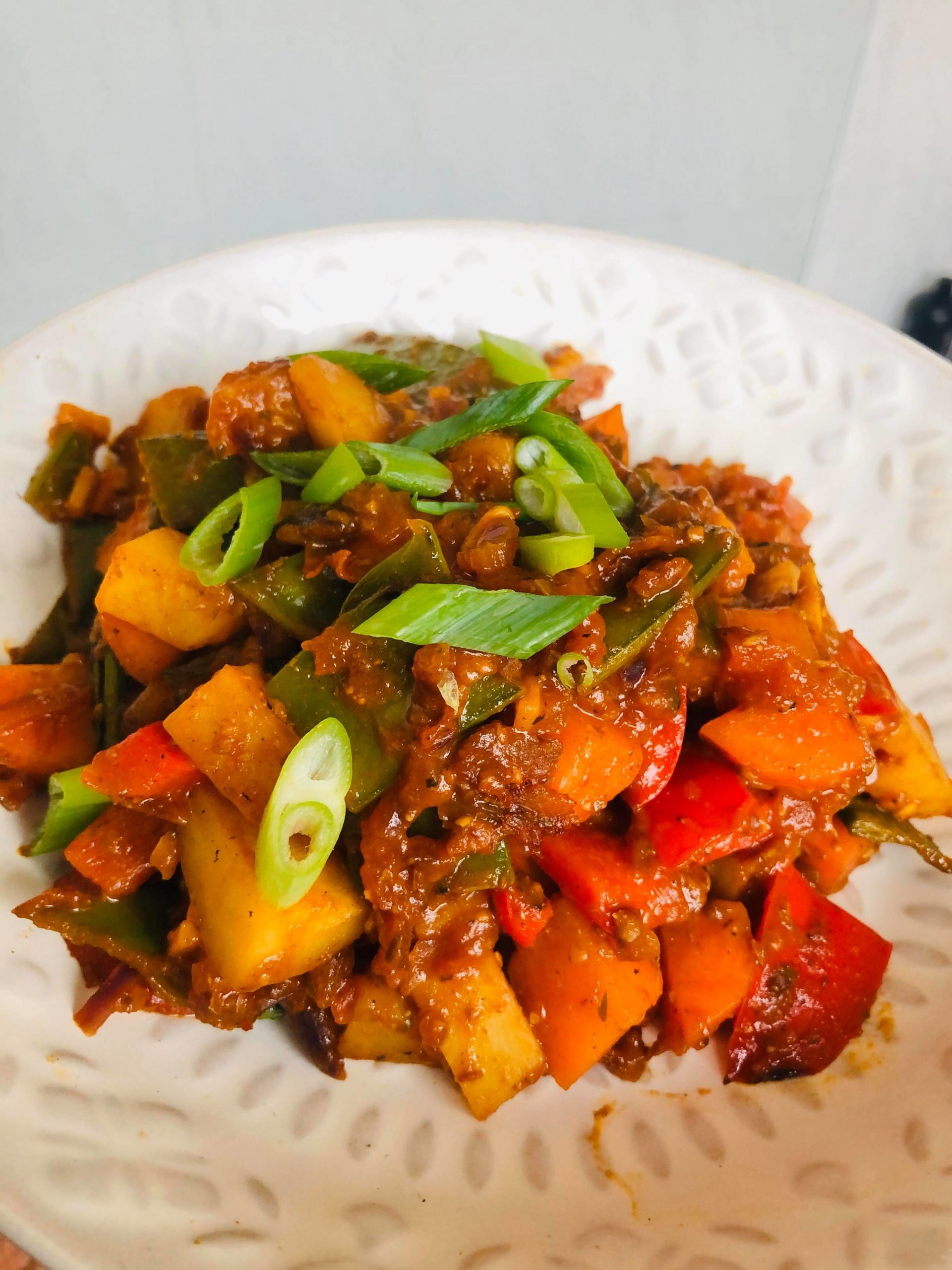 Easy Healthy Vegan Kadai Curry