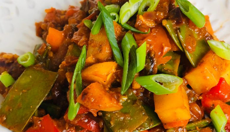 Easy Healthy Vegan Kadai Curry
