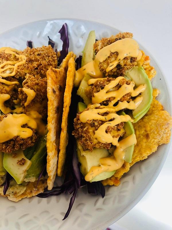 Crispy Tofu Quinoa Tacos