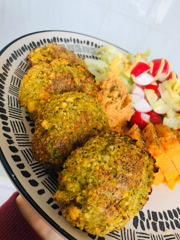 Easy Oil-Free Quinoa & Broccoli Patties