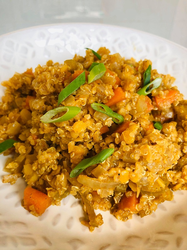 One-Pot Curried Quinoa Lentil Stew