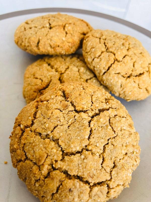 Easy Healthy GF Vegan Tahini Oat Cookies