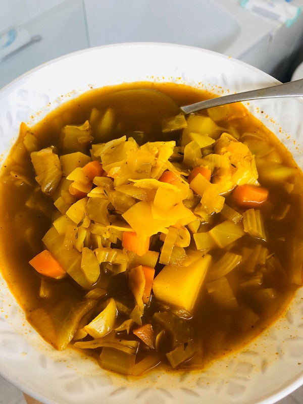 Easy Healthy Curried Cabbage Soup