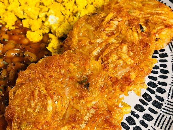 Quick Crispy Vegan Hash-Browns