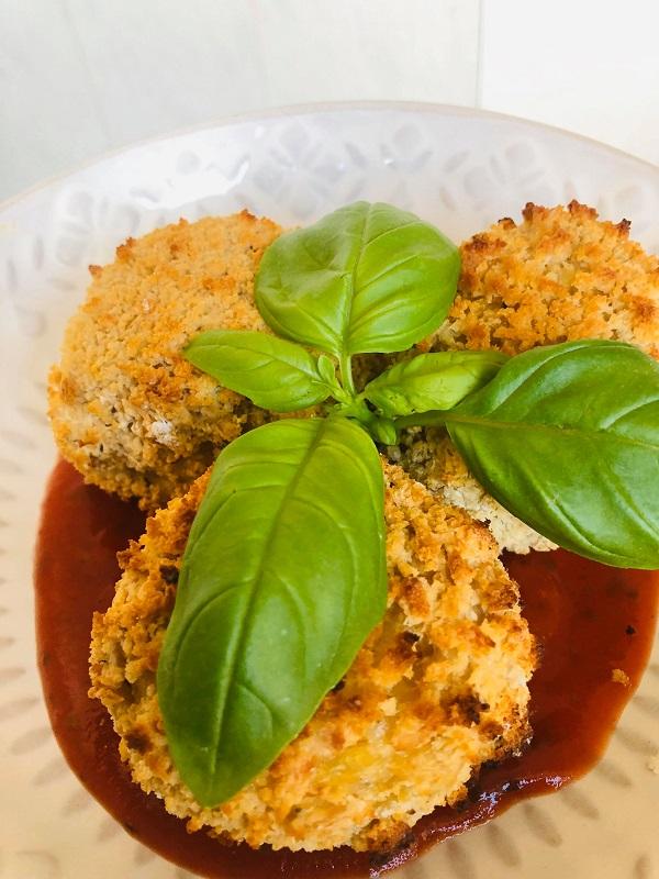 Amazing Vegan Baked Stuffed Arancini
