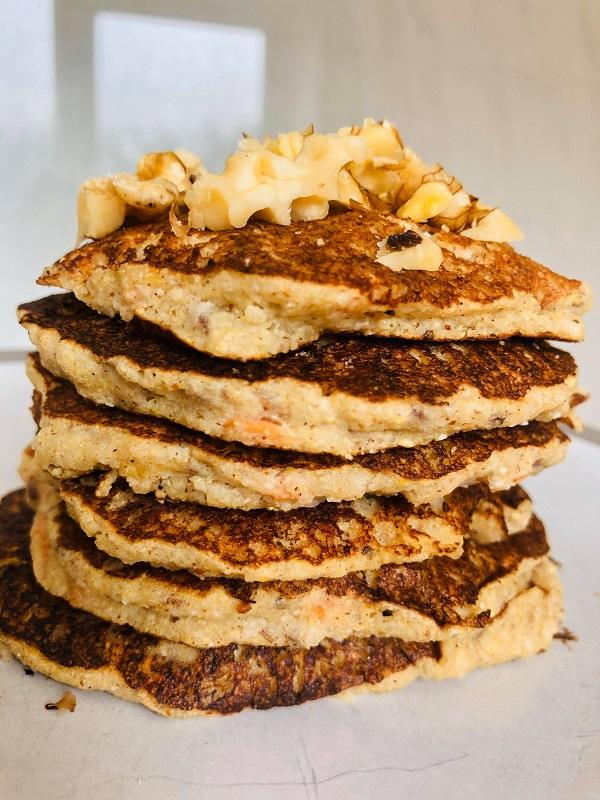 Oil-Free & Gluten-Free Vegan Pancakes