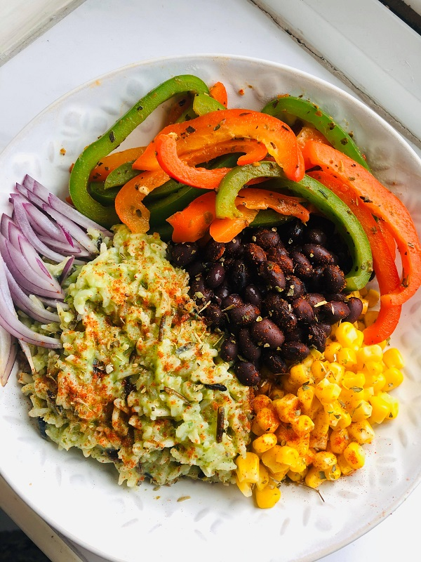 Easy Super Healthy Vegan Burrito Bowl