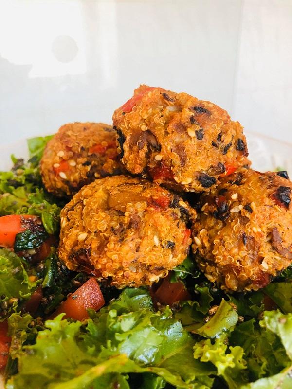 Healthy Vegan GF Mushroom & Quinoa Bites