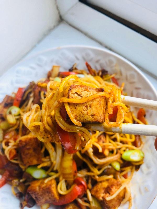 Easy Curried Veg & Tofu Noodle Stir-Fry