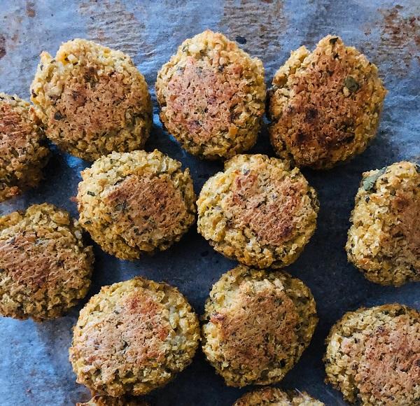 Oil-Free & GF Vegan Quinoa Falafels