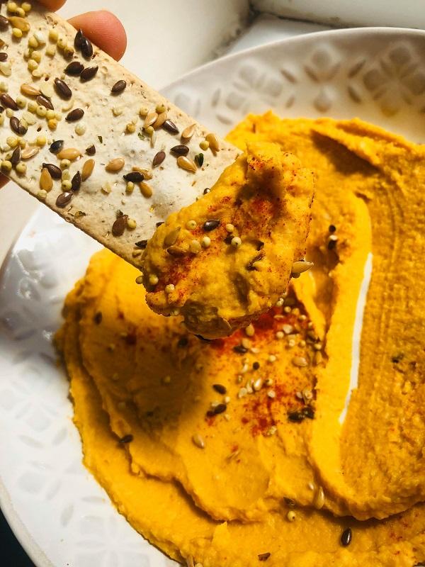 Easy Creamy Oil-Free Sweet Potato Hummus