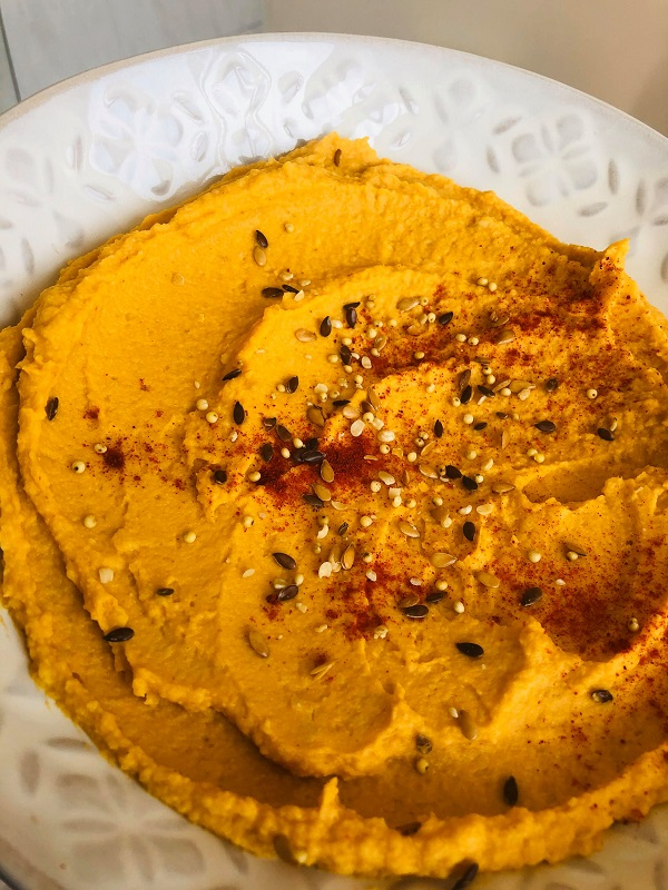Easy Creamy Oil-Free Sweet Potato Hummus