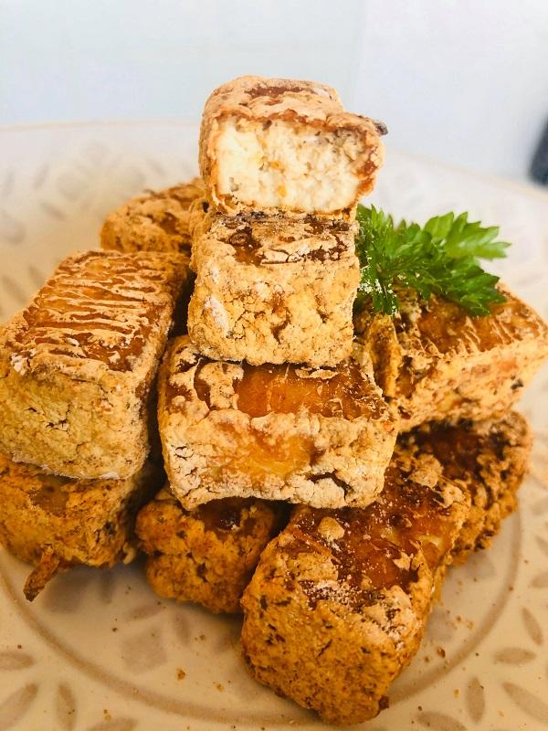 Easy Oil-Free Crispy Cajun Baked Tofu Nuggets
