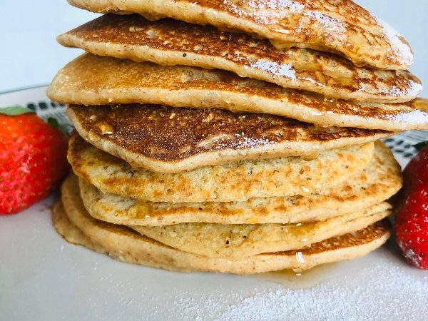 Best-Ever Vegan Easy Healthy Pancakes [GF + Oil-Free]