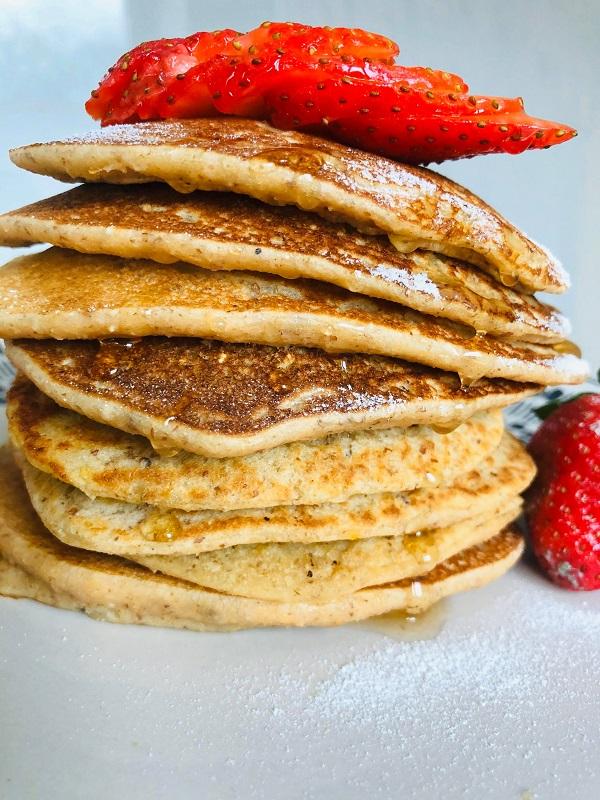 Best-Ever Vegan Easy Healthy Pancakes [GF + Oil-Free]