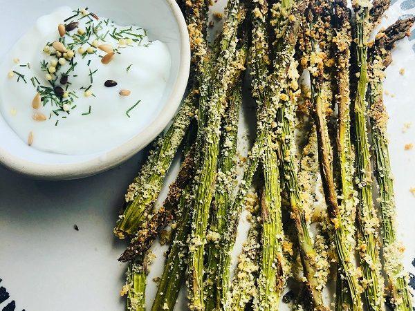 Easy Vegan Parmesan Baked Asparagus Fries