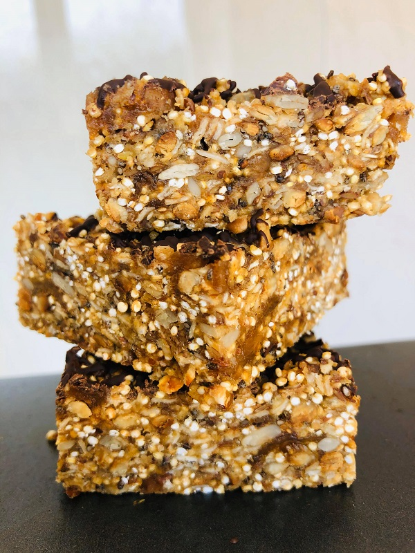 Easy Vegan Healthy Nut-Free Granola Bars