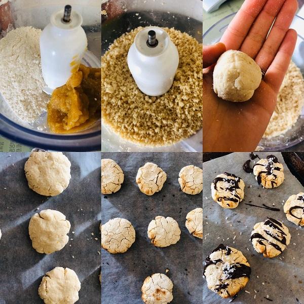 2-Ingredient Coconut Apple Cookies