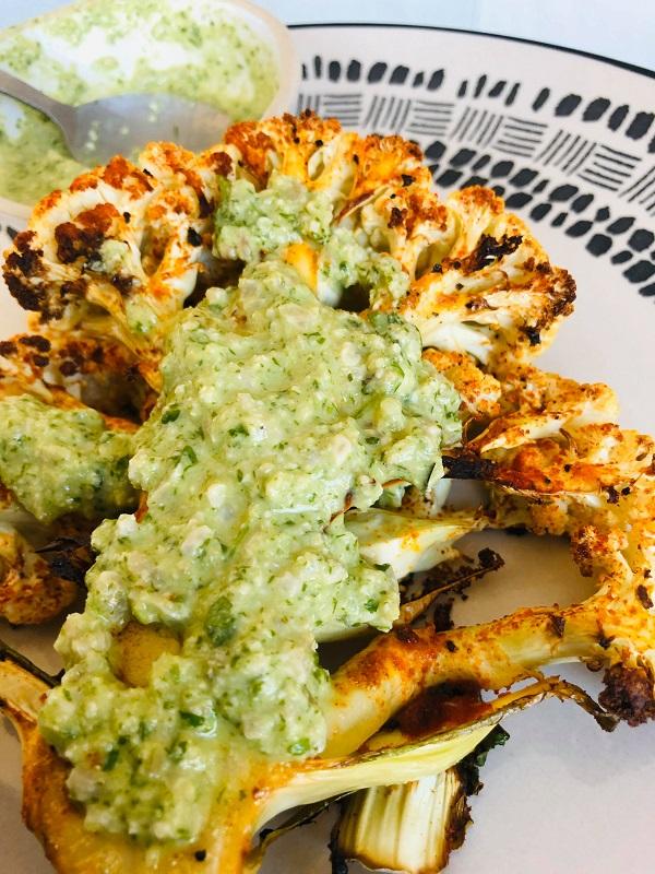 Easy Healthy Gluten-Free Cajun Cauliflower Steak