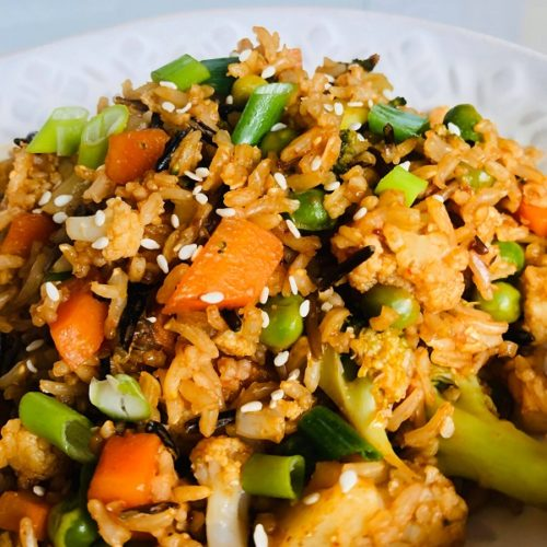 Easy Healthy Vegan Vegetable Fried Rice