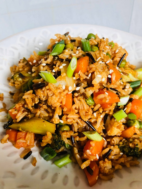 Easy Healthy Vegan Vegetable Fried Rice